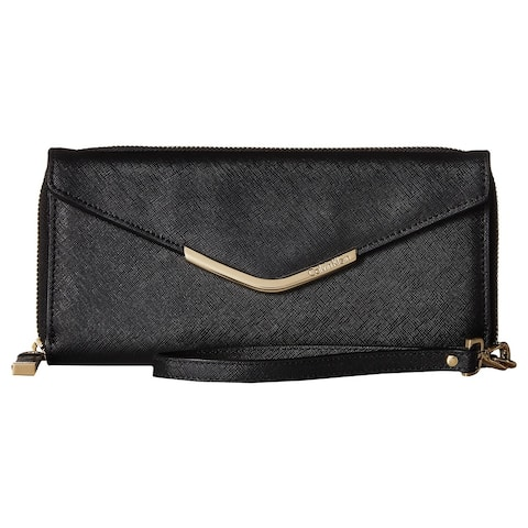 Calvin Klein Saffiano Black and Gold Leather Wallet
