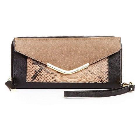Calvin Klein Saffiano Black Combo Leather Wallet