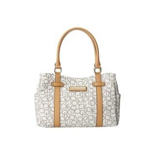 Calvin Klein Hudson Almond/Khaki/Camel Satchel Handbag