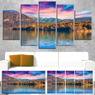Designart 'Bohinj Lake in Triglav National Park' Landscape Artwork Canvas Print