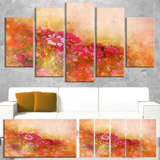 Designart 'Beautiful Little Flowers in Spring' Large Floral Canvas Artwork