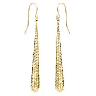 Fremada 14k Gold Long Teardrop Earrings (yellow or white)