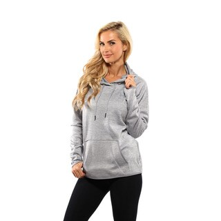 Under Armour Women's Steel Glacier Grey Storm Armour Fleece Icon Twist Hoodie