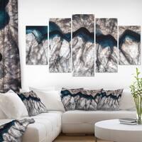 Backlit Mineral Macro' Abstract Canvas Wall Art Print