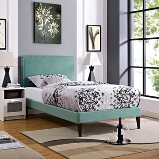 Phoebe Laguna Upholstered Platform Bed with Squared Tapered Legs