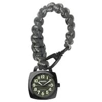 Dakota Men's Black Nylon and Stainless Steel Green Dial Paracord Clip Watch