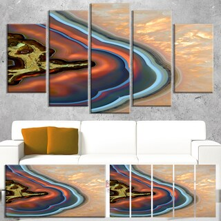 Designart 'Abstract Mineral Texture' Modern Abstract Canvas Print