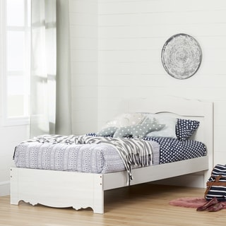 South Shore Caravell White Laminate Twin Bed Set