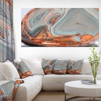 DesignArt 'Beautiful Lake Superior Agate' Modern Abstract Canvas Print - Grey