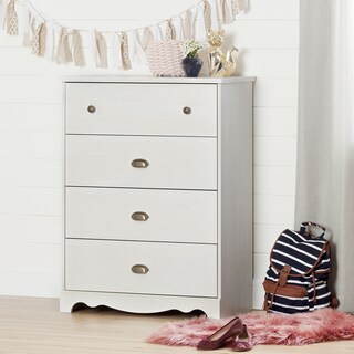 South Shore Caravell White Wash Laminate 4-Drawer Chest