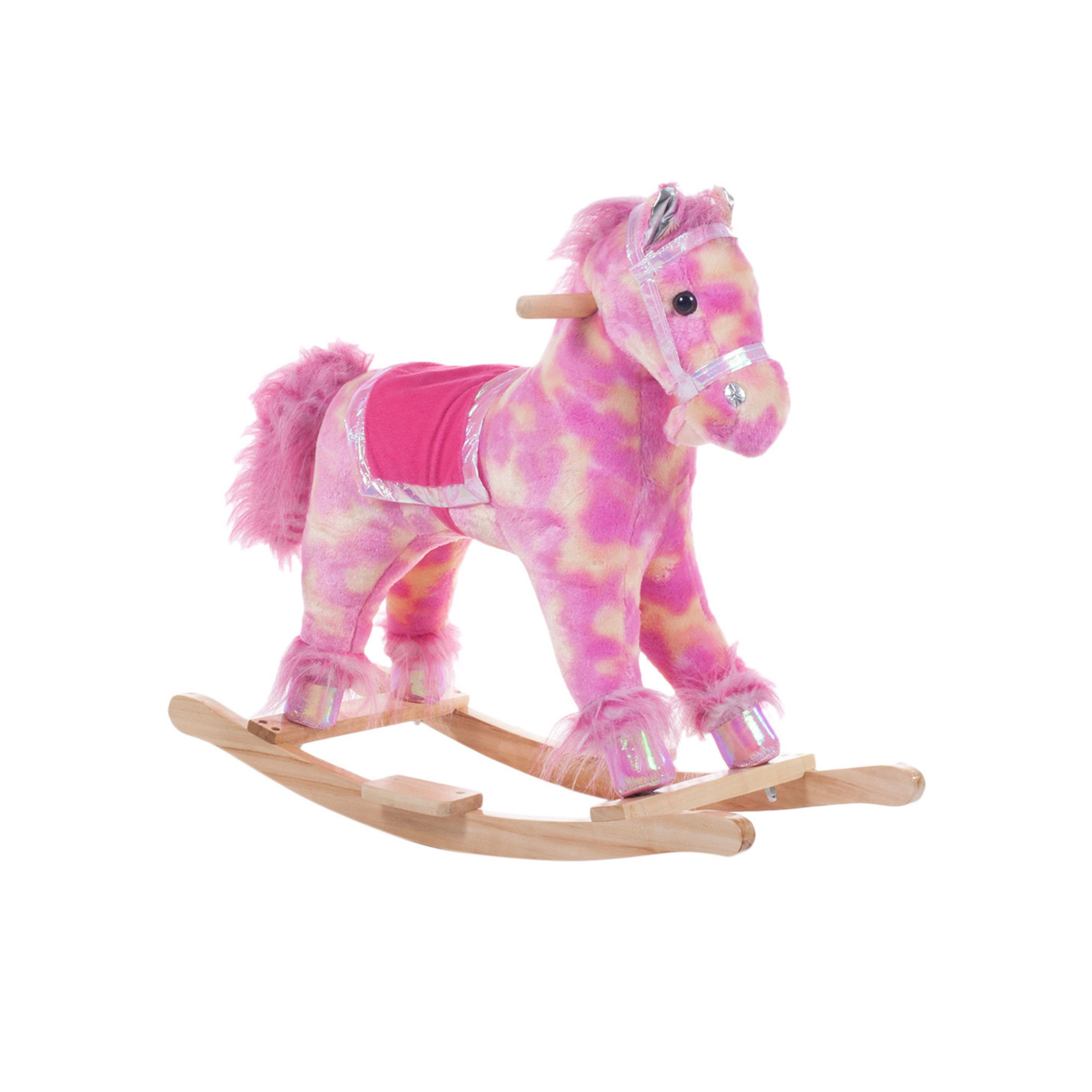 Idea Nuova Jump and Dream Pink Wood Horse Rocking Chair (...