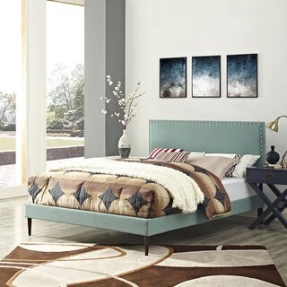 Phoebe Laguna Upholstered Platform Bed with Round Tapered Legs
