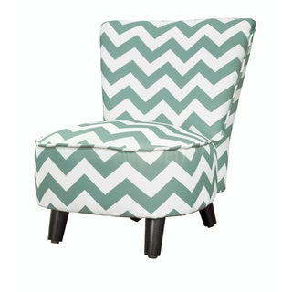 Kid's Chevron Polyester Wood Slipper Chair