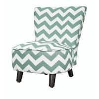 Kid's Chevron Polyester Wood Slipper Chair