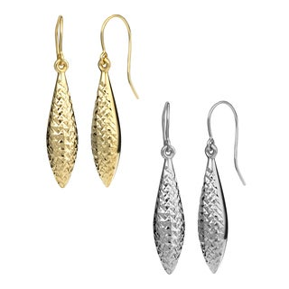 Fremada 14k Gold Teardrop Earrings (yellow or white)