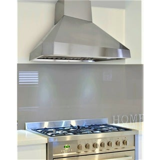 "KOBE RA0248SQB-DC48-5 Deluxe 48"" Wall Mount Range Hood, 3-Speed, 1100 CFM, LED Lights, Baffle Filters"