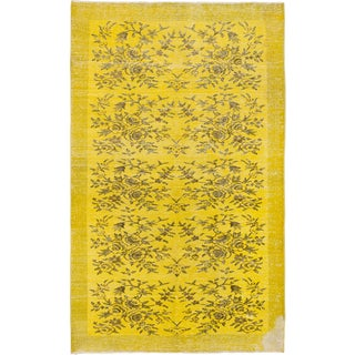 eCarpetGallery Color Transition Green and Yellow Wool Rug (5'7x8'11)