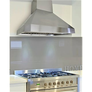 "KOBE RA0242SQB-DC48-5 Deluxe 42"" Wall Mount Range Hood, 3-Speed, 1100 CFM, LED Lights, Baffle Filters"
