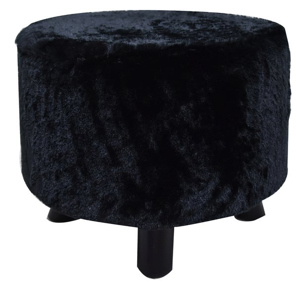 Shop Kendell Furry Ottoman Free Shipping Today