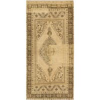 eCarpetGallery Antique Anatolian Blue and Ivory Wool Rug - 5'4x10'9