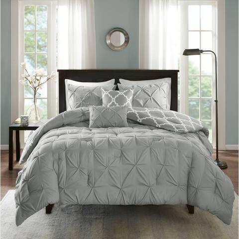 Madison Park Essentials Devin Grey 5 Piece Reversible Comforter Set