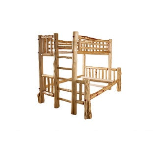 RUSTIC RED CEDAR LOG MISSION STYLE BUNK BEDS