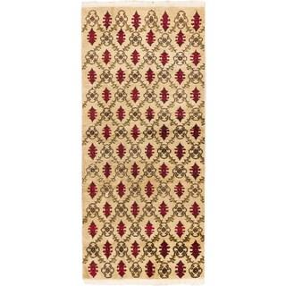 eCarpetGallery Keisari Vintage Ivory Wool Rug (4'5x9'5)