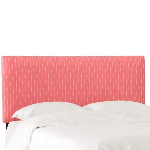 Skyline Furniture Headboard in Sprint Stripe Coral