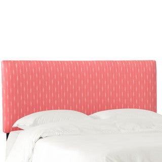 Skyline Furniture Headboard in Sprint Stripe Coral