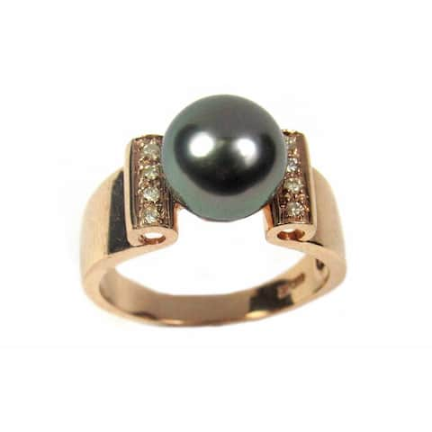 Pearl Lustre Rose Gold Black Tahitian