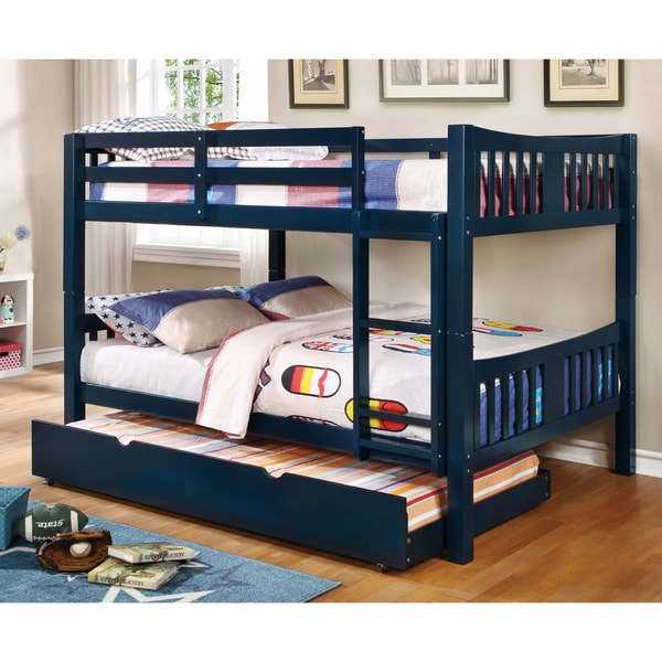 Wonderful Full Over Full Bed Part - 10: Furniture Of America Pello Full Over Full Slatted Bunk Bed - Free Shipping  Today - Overstock.com - 19996445