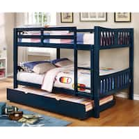Furniture of America Pello Full over Full Slatted Wooden Bunk Bed