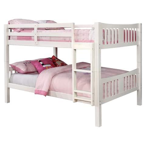 Furniture of America Dai Contemporary Full over Full Bunk Bed