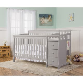 Dream On Me 5-in-1 Brody Pebble Grey Convertible Crib with Changer - pebble grey