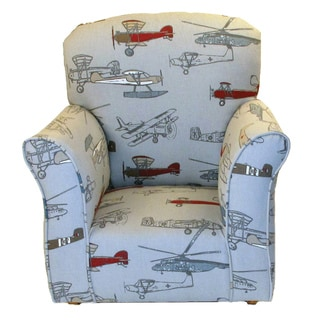 Dozydotes Airplane Print Cotton Toddler Rocking Chair