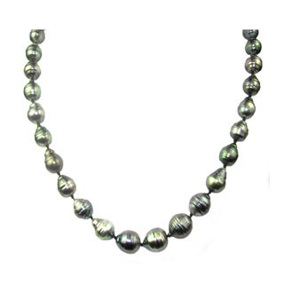 Pearl 14k Yellow Gold Lustre Baroque Tahitian South Pearl Necklace