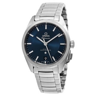 Omega Men's 130.30.39.21.03.001 'Constellation GlobeMaster' Blue Dial Stainless Steel Swiss Automatic Watch
