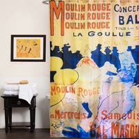 Moulin Rouge Fabric Shower Curtain (70x72)