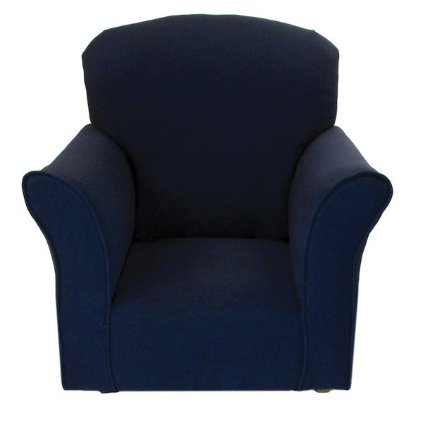 Dozydotes Navy Cotton And Wood Toddler Rocking Chair