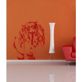 Anime decal, Anime stickers, Anime Vinyl, Sexy girl, Sexy girl Sticker Decal size 22x26 Color Red