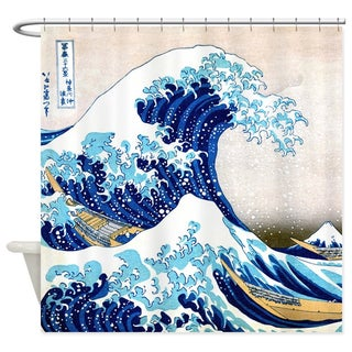 The Great Wave Fabric Shower Curtain