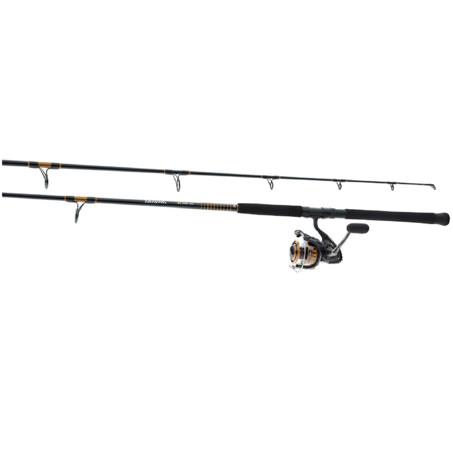 Shop Daiwa Bg Aluminum 10 Foot Surf Pre Mounted Saltwater Spinning Rod And Reel Combo Overstock 13287160