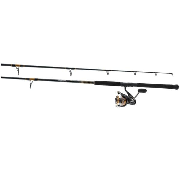 Daiwa bg aluminum 10 foot surf pre mounted saltwater for Surf fishing rods and reel combos