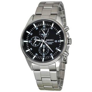 Seiko Chronograph SNDC81P1 Men's Black Dial Watch