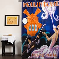 Music Hall Fabric Shower Curtain