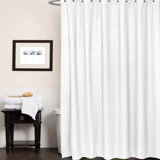 Waffle Weave Cotton Shower Curtain