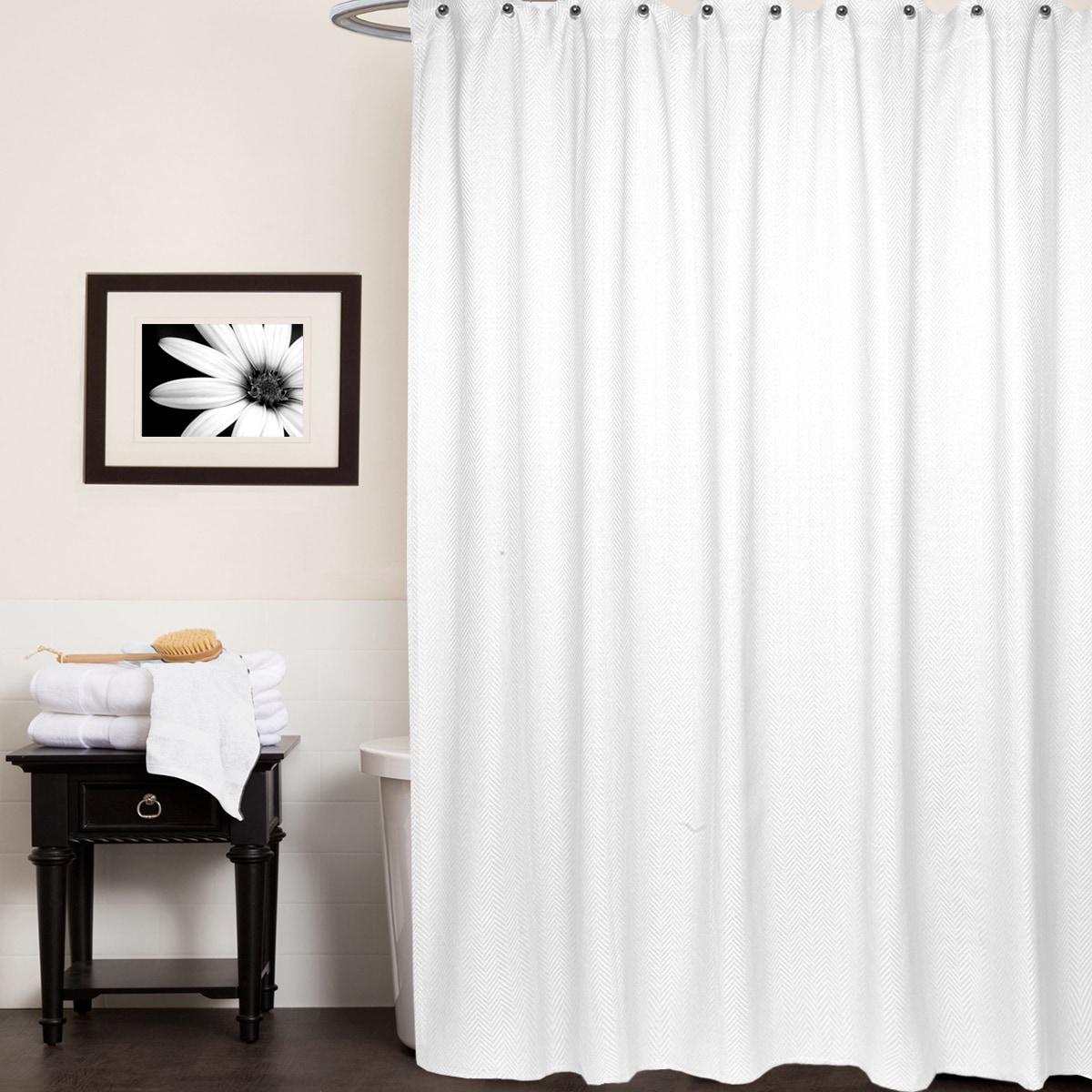 Chevron Cotton Shower Curtain Assorted Colors