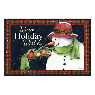 Warm Holiday Wishes Doormat