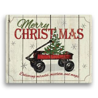 'Christmas Wagon' Canvas Wall Art