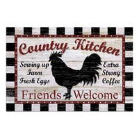 Country Kitchen Polyester 18x27 Doormat